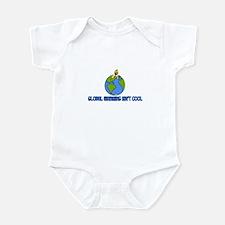 global warming isn't cool Infant Bodysuit