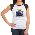 Motorcycles. Plein Air.Women's Cap Sleeve T-Shirt