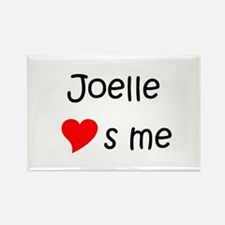 Funny Joelle Rectangle Magnet
