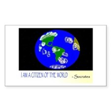 Citizen of the World Rectangle Decal
