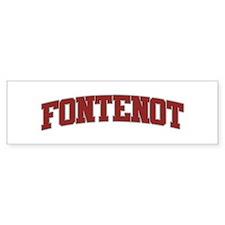 FONTENOT Design Bumper Bumper Sticker