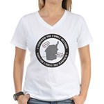 Survived Reunion Women's V-Neck T-Shirt