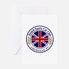 British Sports Car Club Greeting Cards (Package of