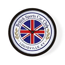 British Sports Car Club Wall Clock