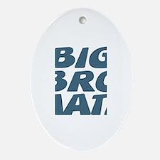 Big Bro Nate Oval Ornament