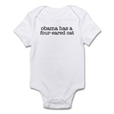 Obama Has a Four-Eared Cat Infant Bodysuit
