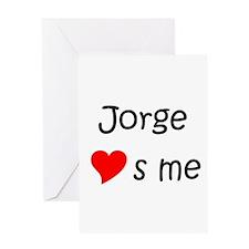 Jorge name Greeting Card