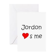 Jordon name Greeting Card