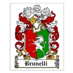 Brunelli Family Crest Small Poster