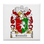 Brunelli Family Crest Tile Coaster