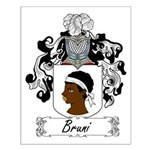 Bruni Family Crest Small Poster