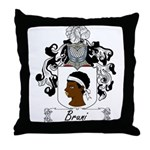 Bruni Family Crest Throw Pillow