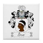 Bruni Family Crest Tile Coaster