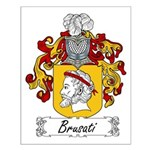Brusati Family Crest Small Poster