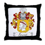 Brusati Family Crest Throw Pillow