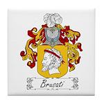 Brusati Family Crest Tile Coaster