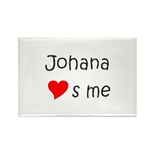 Funny Johana Rectangle Magnet