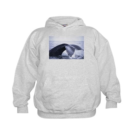 Whales Tail (Front only) Kids Hoodie