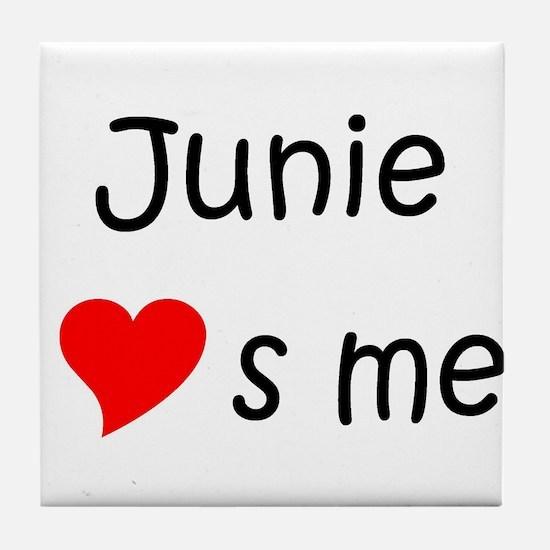 Unique Junie Tile Coaster