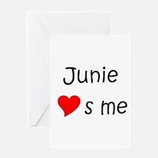 Funny Junie Greeting Card