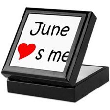 Cute June Keepsake Box