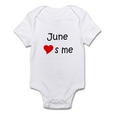 Cute June Infant Bodysuit
