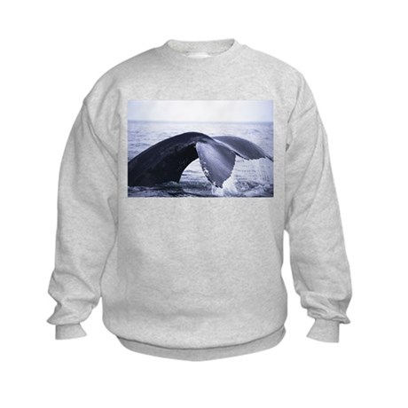 Whales Tail (Front & back) Kids Sweatshirt