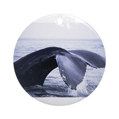 Whales Tail Ornament (Round)