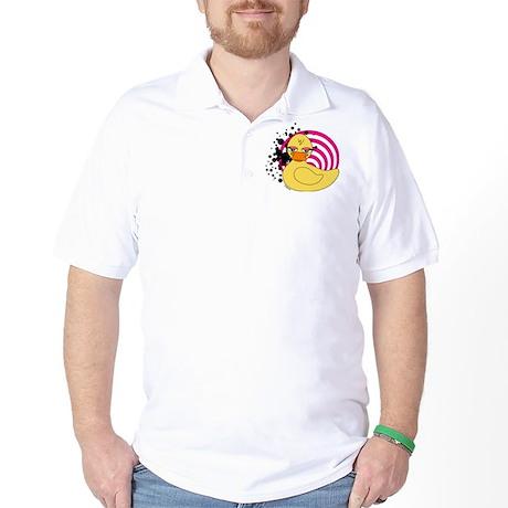 Girly Rubber Ducky Golf Shirt