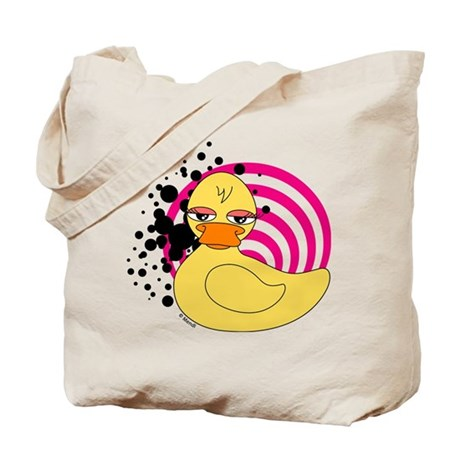 Girly Rubber Ducky Tote Bag