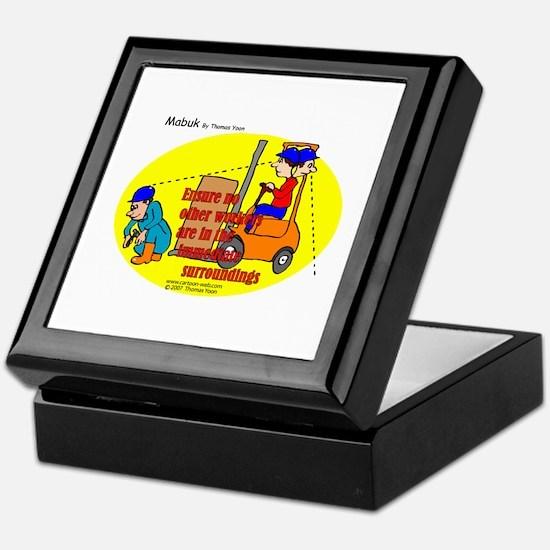 Forklift Safety Keepsake Box
