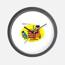 Forklift Safety Wall Clock