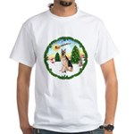 Take Off1/German Shepherd #11 White T-Shirt