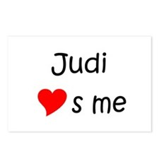 Unique Judi Postcards (Package of 8)