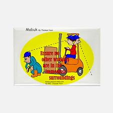 Forklift Safety Rectangle Magnet