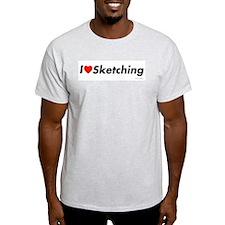 I love Drawing Ash Grey T-Shirt
