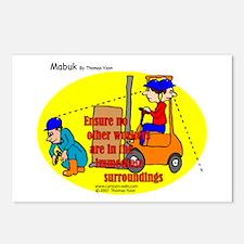 Forklift Safety Postcards (Package of 8)