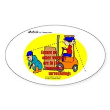 Forklift Safety Oval Decal