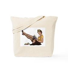 Librarian Girl Tote Bag