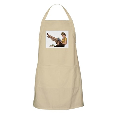 Librarian Girl BBQ Apron