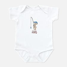 I love Fishing (Boy) Infant Bodysuit