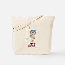 I love Fishing (Boy) Tote Bag