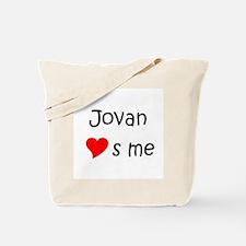 Unique Jovan Tote Bag