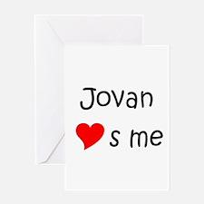 Funny Jovan Greeting Card