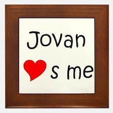 Funny Jovan Framed Tile