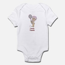 I love Tennis (Girl) Infant Bodysuit
