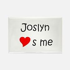 Funny Joslyn Rectangle Magnet