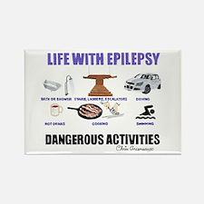 DANGEROUS ACTIVITIES Rectangle Magnet