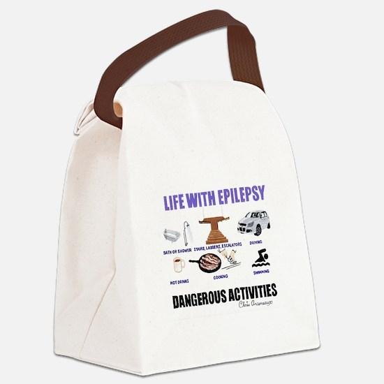 DANGEROUS ACTIVITIES Canvas Lunch Bag