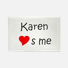 Cute Karen Rectangle Magnet
